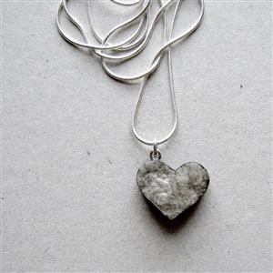 Recycled paper heart necklace