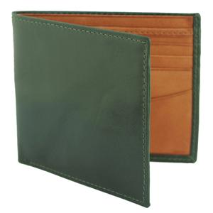 Personalised Bill Fold Leather Wallet