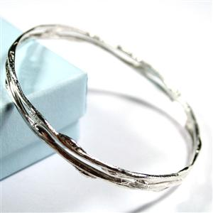 Double Band Cast Willow Bangle