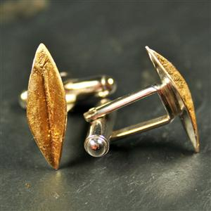 Simple Leaf Cufflinks