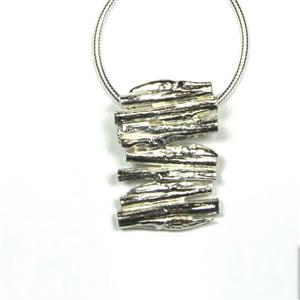 Stacked Cast Willow Pendant