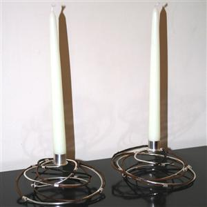 Silver and Willow Table Candle Holders