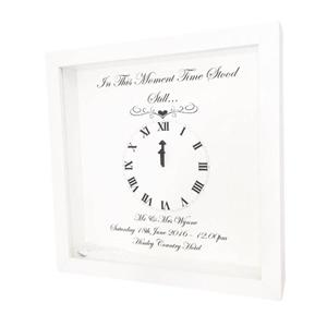 Time Stood Still Personalised Wall Art