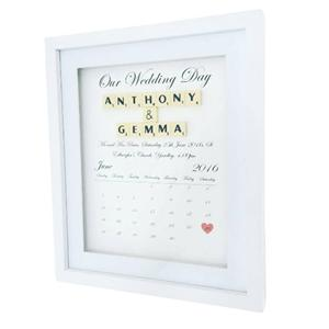Wedding Day personalised wall art