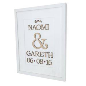 Personalised word art - large frame