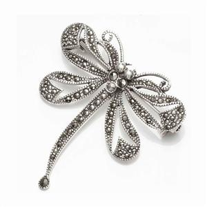 Dragon Fly Sterling Silver & Marcasite Brooch