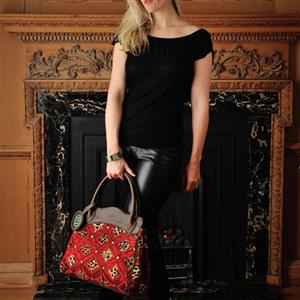 Handbag Red Leopard Silk and Leather | Gifts For Her | MyGiftGenie