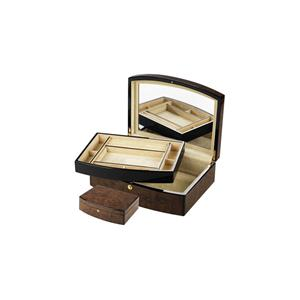 Dark Veneered Jewellery Box with Inner Tray