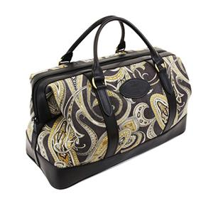 Black Paisley Weekend Bag