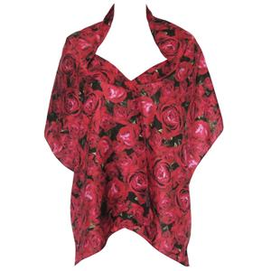 Silk Scarf Gypsy Rose Print