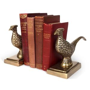 Vintage Gold Pheasant Bookends