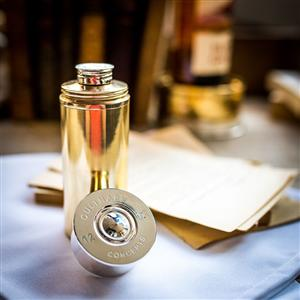 Cartridge Cylindrical Hip Flask