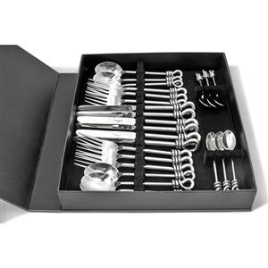 24 piece Polished Knot Boxed Cutlery Set