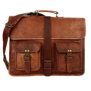 Large Brown Strap Style Leather Satchel