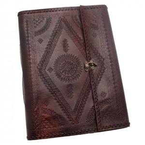 Indra XL Stitched & Embossed Leather Album | 3rd leather anniversary Gift Ideas | MyGiftGenie