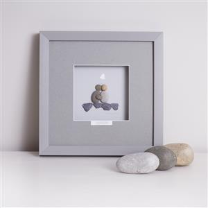 Personalised Wedding Pebble Artwork | MyGiftGenie