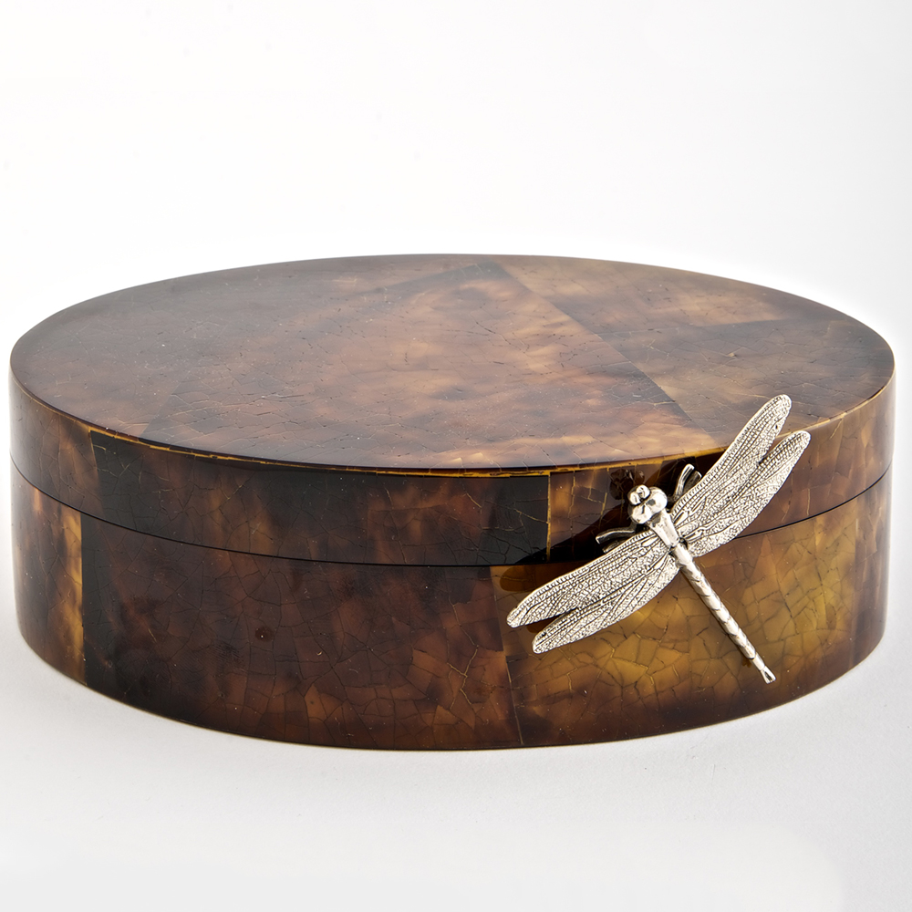 Brown Oval Dragonfly Box