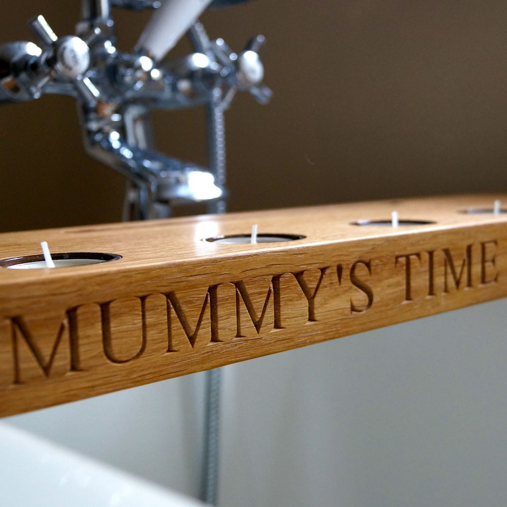 Personalised Wooden Bath Tray | Gift Ideas | MyGiftGenie