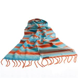 100% Cashemere Double Layer Stripey Scarf (Giant Goldfish)