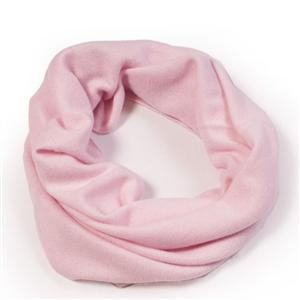 100% Cashmere Snood Pink Lady