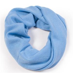 100% Cashmere Snood Provence Blue