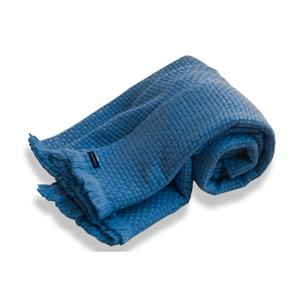 Luxury 100% Cashmere Box woven Blankets - Adriatic Blue