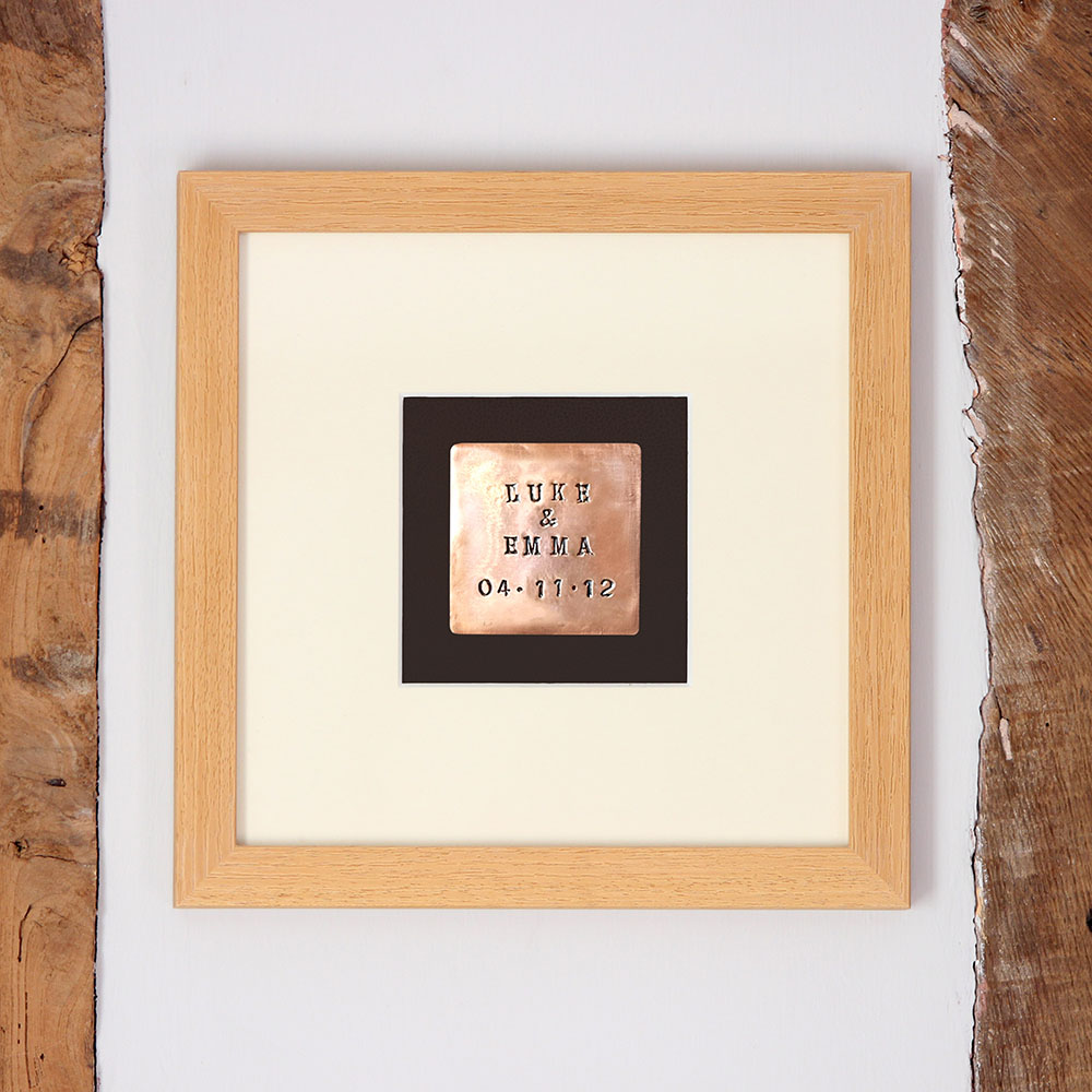 Personalised Copper Print 7th Anniversary Gift Mygiftgenie