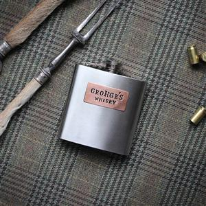 Steel and Copper Hip Flask