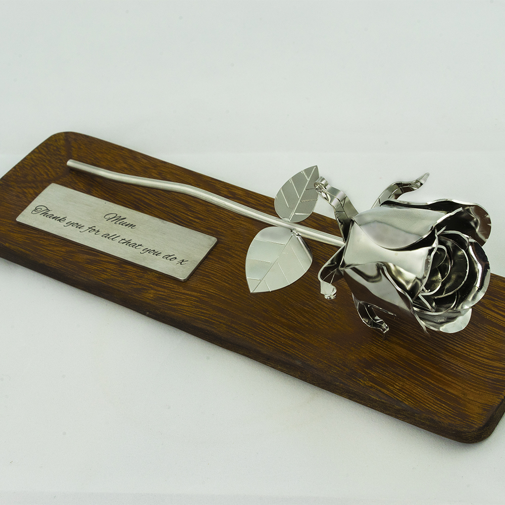 Anniversary Gifts For Her: Handmade Stainless Steel Rose