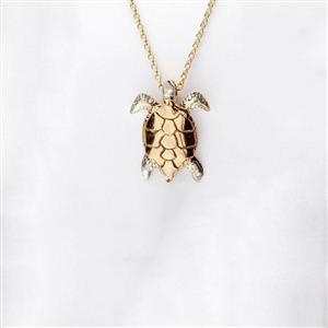 Gold And Silver Turtle Pendant