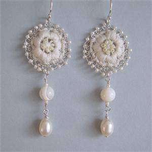 Anemone Lace Drop Earrings