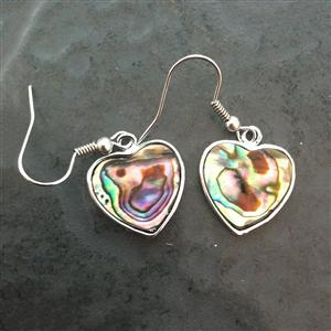 Paua Heart Earrings