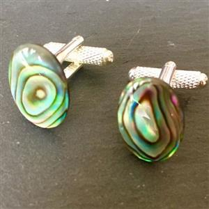 Paua Shell Oval Cufflinks