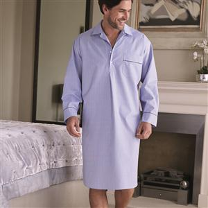 Two-Fold Luxury Cotton Mens Nightshirt