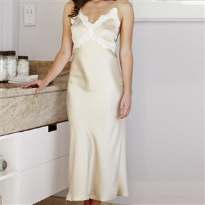 Luxury Lace Silk Nightdress for her