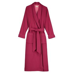 Luxury Ladies Casmere Plain Silk-Lined Robe