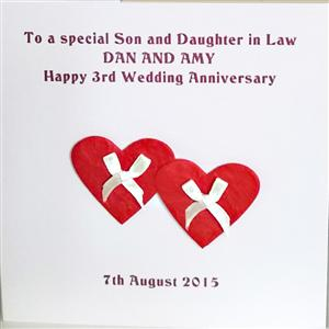Two Red Hearts Wedding, Anniversary or Engagement Card