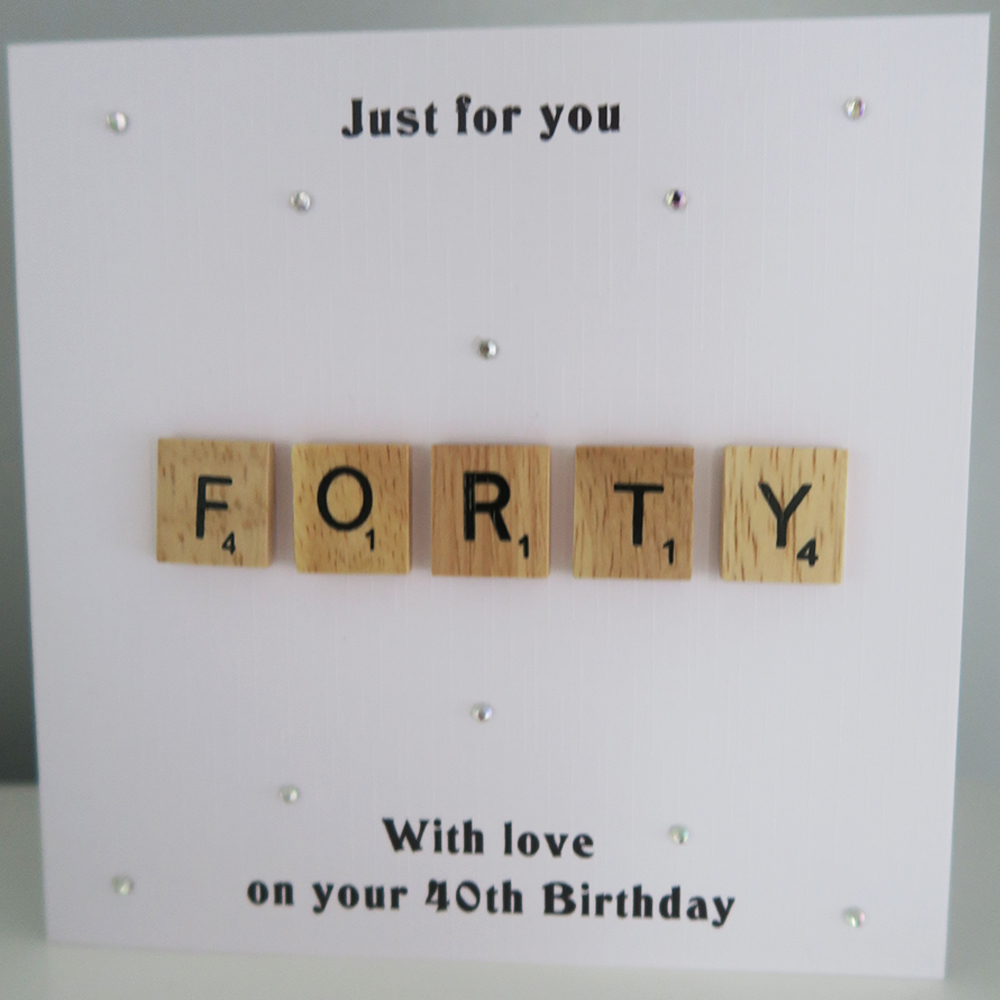 Personalised Scrabble Birthday Card