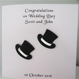 Mr & Mr Anniversary or Wedding Card Top Hats | MyGiftGenie