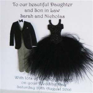 Mr & Mrs Suit and Dress Wedding or Anniversary Card