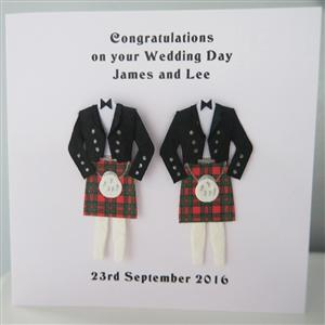 Mr & Mr Anniversary or Wedding Card Kilts | MyGiftGenie