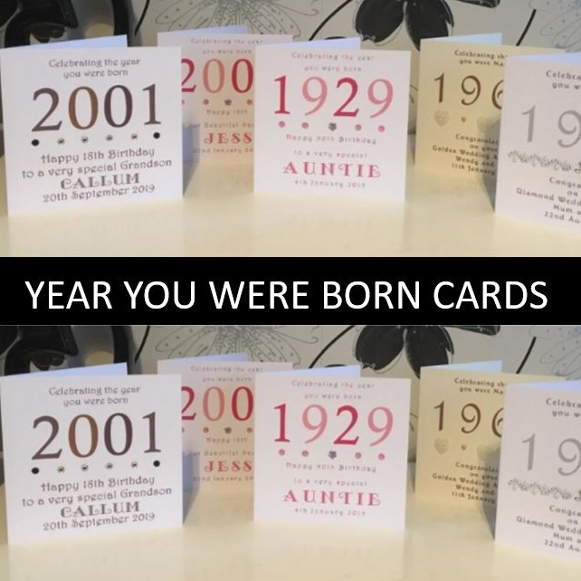 Year You Were Born Birthday Cards