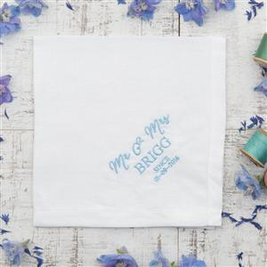 Personalised Mens Linen Hankie