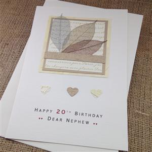 Personalised Autumn Leaves Birthday Card | For Him | MyGiftGenie