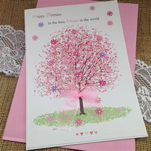 Personalised Cherry Tree Card For Her