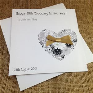 Personalised Flower Heart Wedding Anniversary | Wedding Cards | MyGiftGenie