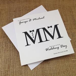Mr&Mr Wedding Congratulations Card | Wedding Cards | MyGiftGenie