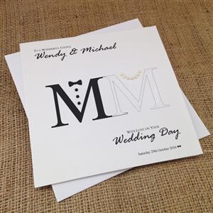 Mr & Mrs Wedding Congratulations Card | Wedding Cards | MyGiftGenie