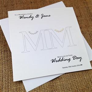 Mrs & Mrs Wedding Congratulations Card | Wedding Cards | MyGiftGenie