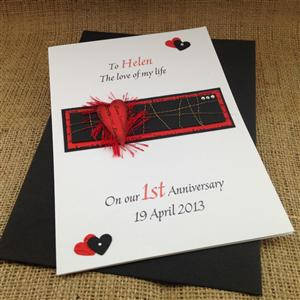 Heart On Fire Anniversary Card | Anniversary Cards | MyGiftGenie